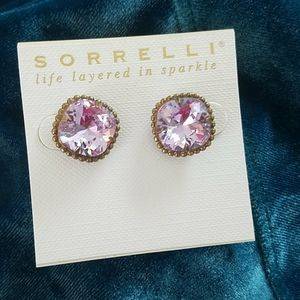SORRELLI lavender Studs Earrings NWT